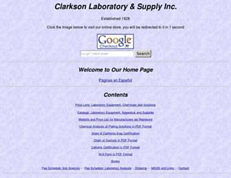 clarksonlab.com screenshot