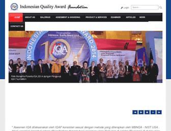 indonesianqualityaward.org screenshot