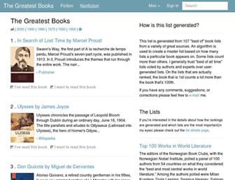 thegreatestbooks.org screenshot