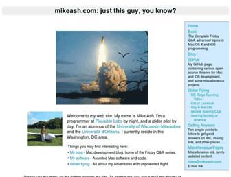 mikeash.com screenshot