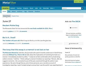 metafilter.com screenshot