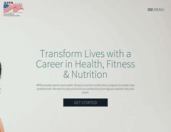 afpafitness.com screenshot