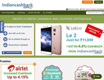 indiancashback.com screenshot