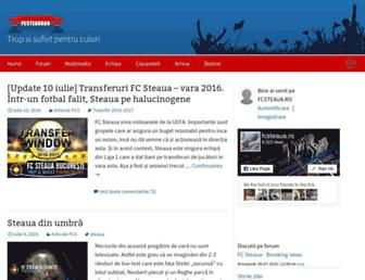 Main page screenshot of fcsteaua.ro