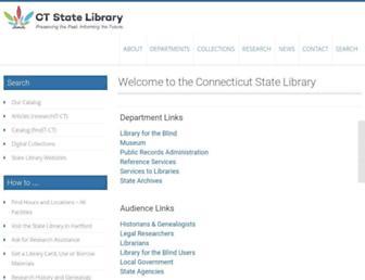 Main page screenshot of cslib.org