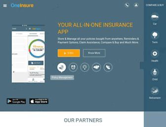 oneinsure.com screenshot