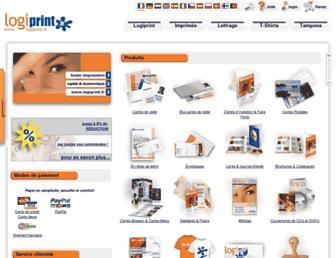 Main page screenshot of logiprint.fr