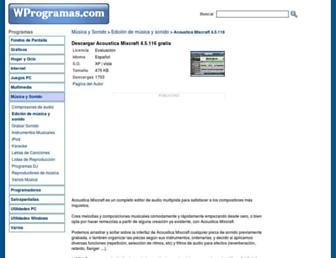 acoustica-mixcraft.wprogramas.com screenshot