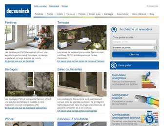 deceuninck.fr screenshot