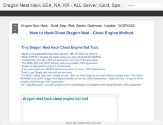 dragonnestgoldhackcheatspeedwall.blogspot.com screenshot