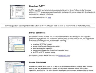Thumbshot of Putty.org