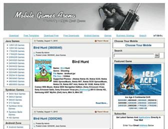 mobilegamesarena.net screenshot