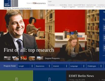 Thumbshot of Esmt.org
