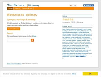 wordsense.eu screenshot
