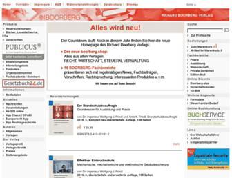 Main page screenshot of boorberg.de