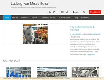 Main page screenshot of vonmises.it