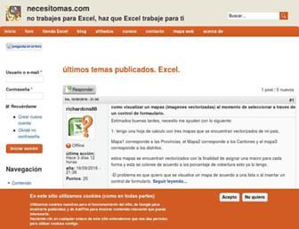 necesitomas.com screenshot