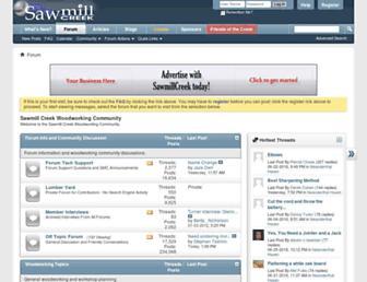 Main page screenshot of sawmillcreek.org