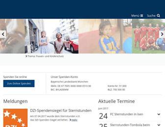 Main page screenshot of sternstunden.de