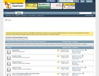 Main page screenshot of livinginindonesiaforum.org
