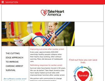 Main page screenshot of takeheartamerica.org