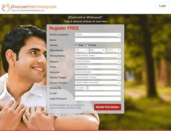 divorceematrimony.com screenshot