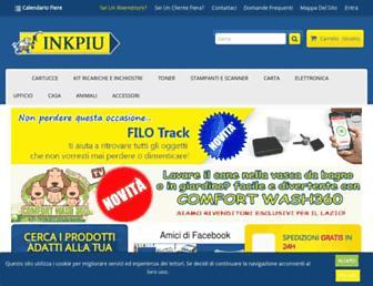 Main page screenshot of inkpiu.it