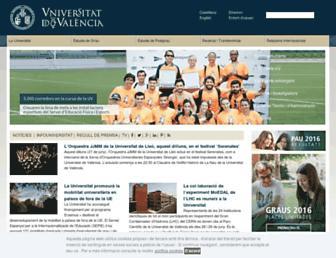 Main page screenshot of uv.es