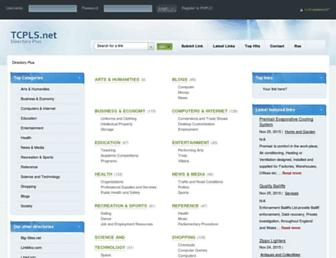 Main page screenshot of tcpls.net