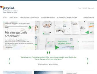Main page screenshot of psyga.info