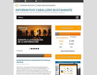 caballerobustamante.com.pe screenshot