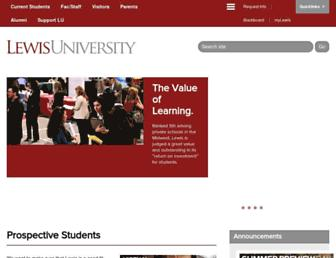 lewisu.edu screenshot