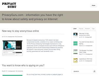 privacyguru.com screenshot