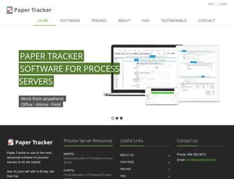 papertracker.biz screenshot