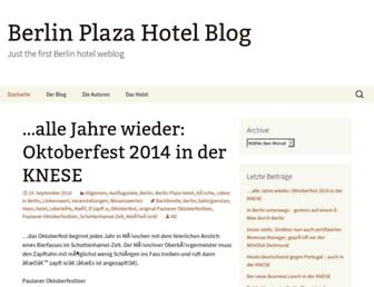 Main page screenshot of blog.plazahotel.de