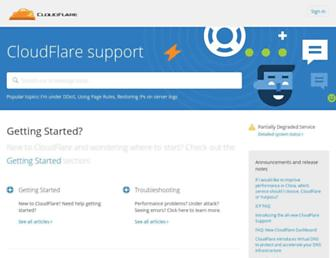 support.cloudflare.com screenshot