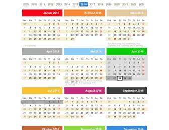 Main page screenshot of norskkalender.no