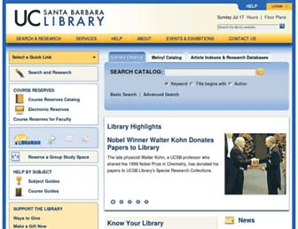 library.ucsb.edu screenshot