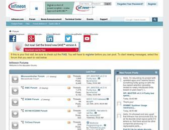 infineonforums.com screenshot