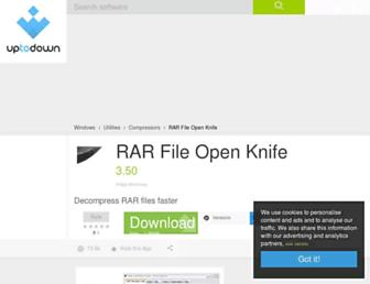 rar-file-open-knife.en.uptodown.com screenshot