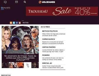 Main page screenshot of glamurama.uol.com.br
