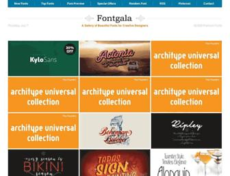 fontgala.com screenshot