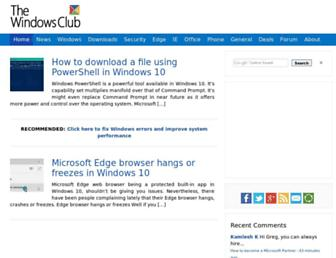 Thumbshot of Thewindowsclub.com