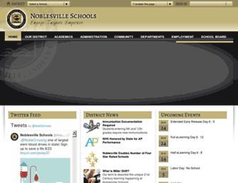 noblesvilleschools.org screenshot