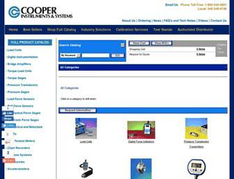 catalog.cooperinstruments.com screenshot