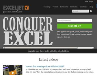 Thumbshot of Exceljet.net