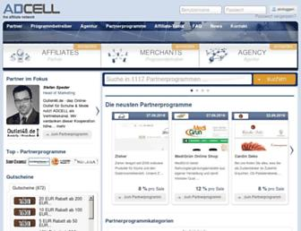 Main page screenshot of adcell.de