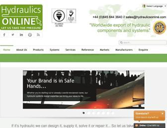 hydraulicsonline.com screenshot