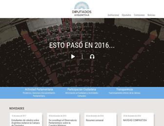 Main page screenshot of hcdn.gov.ar