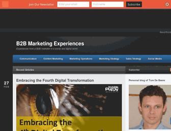 b2bmarketingexperiences.com screenshot